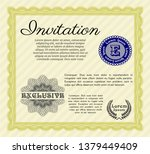 yellow retro vintage invitation....   Shutterstock .eps vector #1379449409