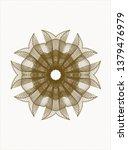 brown rosette. linear...   Shutterstock .eps vector #1379476979