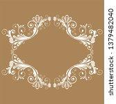 vector vintage floral ...   Shutterstock .eps vector #1379482040