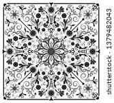 vector vintage floral ...   Shutterstock .eps vector #1379482043