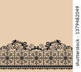 vector vintage floral ...   Shutterstock .eps vector #1379482049