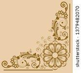 vector vintage floral ...   Shutterstock .eps vector #1379482070