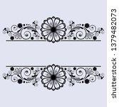 vector vintage floral ...   Shutterstock .eps vector #1379482073