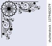 vector vintage floral ...   Shutterstock .eps vector #1379482079