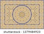 vintage arabic pattern. persian ...   Shutterstock .eps vector #1379484923