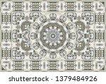 vintage arabic pattern. persian ...   Shutterstock .eps vector #1379484926