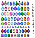 illustration set of precious... | Shutterstock .eps vector #137949716