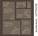 wedding invitation template | Shutterstock .eps vector #137950148