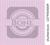 bone retro pink emblem   Shutterstock .eps vector #1379504009