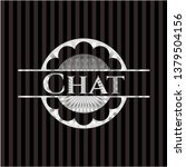 chat silver shiny emblem   Shutterstock .eps vector #1379504156
