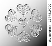 seven black and white relief... | Shutterstock . vector #1379519720