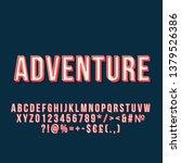 adventure vintage 3d vector...   Shutterstock .eps vector #1379526386