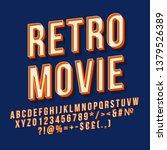 retro movie 3d vector lettering.... | Shutterstock .eps vector #1379526389
