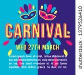 carnival vintage 3d vector...   Shutterstock .eps vector #1379526410
