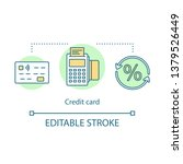 credit card concept icon. card... | Shutterstock .eps vector #1379526449