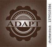 adapt wood emblem. retro   Shutterstock .eps vector #1379535386