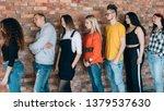 tired of waiting. millennials... | Shutterstock . vector #1379537630