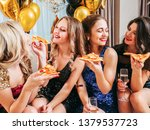 Girls Party. Close Female...
