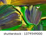 green hand drawn oil painting.... | Shutterstock . vector #1379549000