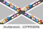 isometric crossroads...   Shutterstock .eps vector #1379553056