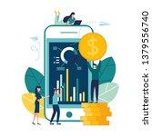 financial transactions  non... | Shutterstock .eps vector #1379556740