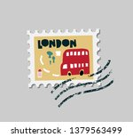 vector flat london  united... | Shutterstock .eps vector #1379563499