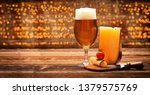 yellow cheese appetizer with... | Shutterstock . vector #1379575769