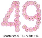 numeral 49  forty nine  from... | Shutterstock . vector #1379581643