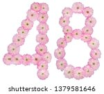 numeral 48  forty eight  from... | Shutterstock . vector #1379581646