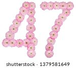 numeral 47  forty seven  from... | Shutterstock . vector #1379581649