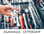 tool hardware store. closeup of ... | Shutterstock . vector #1379582249