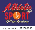 basketball and college graphic... | Shutterstock .eps vector #1379583050