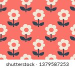 seamless pattern with stylized... | Shutterstock .eps vector #1379587253