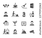 set of hotel icons | Shutterstock .eps vector #1379591063