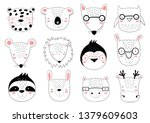 vector collection of cute...   Shutterstock .eps vector #1379609603