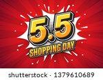 5.5 shopping day font... | Shutterstock .eps vector #1379610689