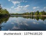 reflections in the obelisk pond ...   Shutterstock . vector #1379618120