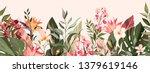 botanic seamless border  rim... | Shutterstock .eps vector #1379619146