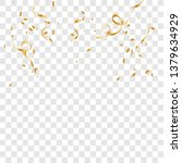 gold confetti celebration .... | Shutterstock .eps vector #1379634929