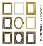 set picture frame isolated on... | Shutterstock . vector #137964044