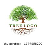 abstract vibrant tree and roots ... | Shutterstock .eps vector #1379658200