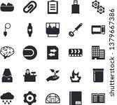 solid vector icon set  ... | Shutterstock .eps vector #1379667386