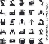 solid vector icon set   builder ... | Shutterstock .eps vector #1379667500