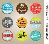 set of summer   surfing design  ... | Shutterstock .eps vector #137967233