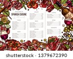 vector sketch colorful spanish... | Shutterstock .eps vector #1379672390