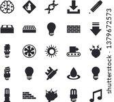 solid vector icon set   brick... | Shutterstock .eps vector #1379672573