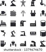 solid vector icon set   builder ... | Shutterstock .eps vector #1379674670