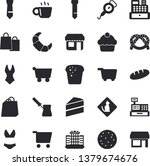 solid vector icon set   cake... | Shutterstock .eps vector #1379674676