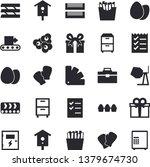 solid vector icon set  ... | Shutterstock .eps vector #1379674730
