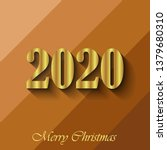 2020 merry christmas background. | Shutterstock . vector #1379680310